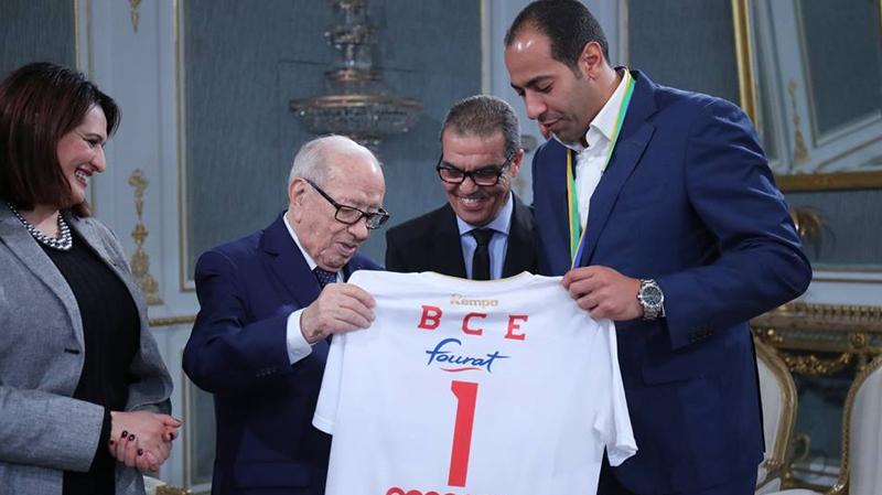 La sélection nationale de Handball honorée par BCE