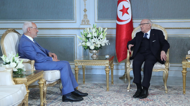 Bèji Caid Essebsi et Rached Ghannouchi