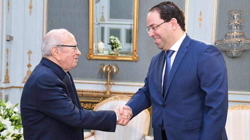 Béji Caïd Essebsi reçoit Youssef Chahed