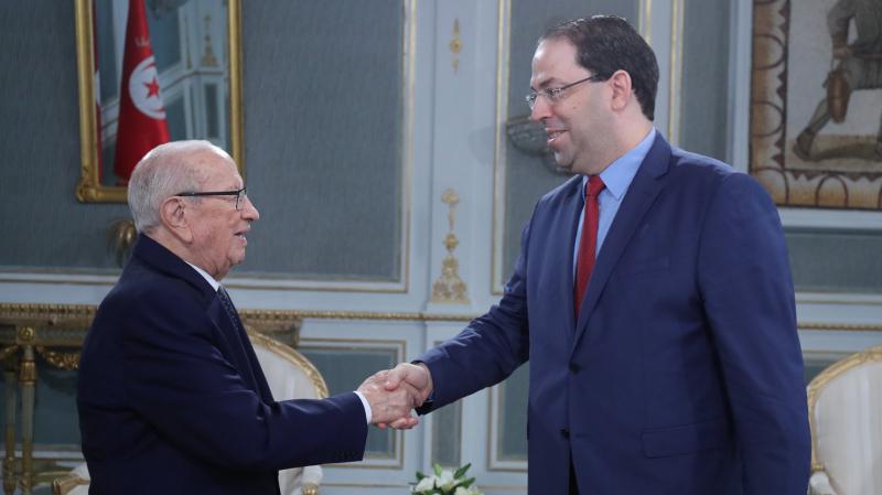 Beji Caied Essebsi rencontre Chahed au palais de Carthage