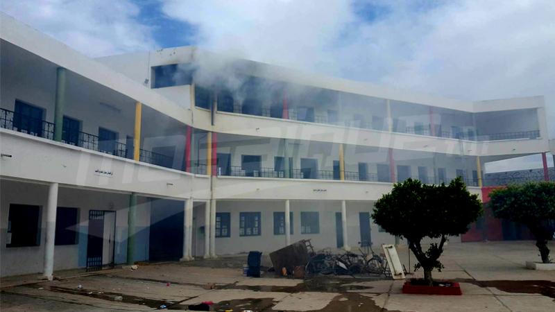Bou Mhel : incendie dans un collège