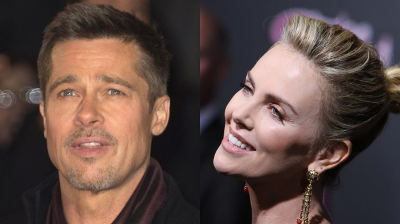 bred pitt et Charlize Theron