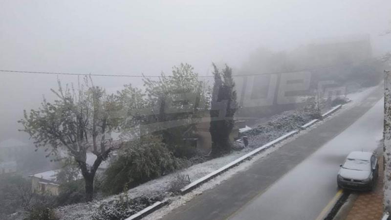 Chute de neige à Ain Drahem et Ghardimaou