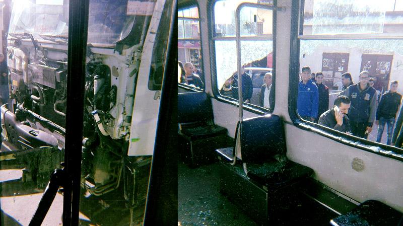 Collision entre le métro 4 et un camion