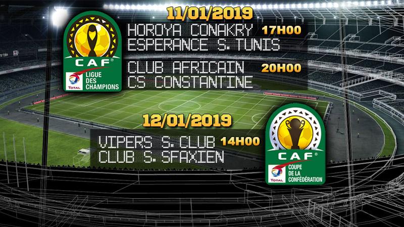 Compétitions africaines : le programme TV des matches