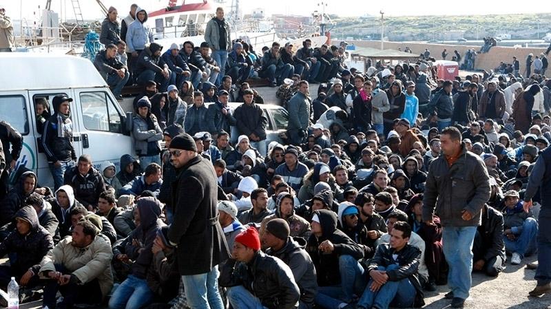 Croissance du nombre de migrants  interceptés aux frontières