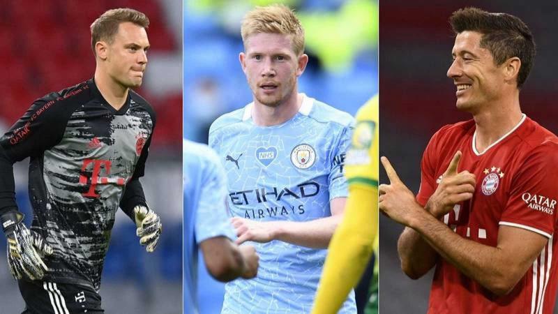 De Bruyne, Lewandowski et Neuer