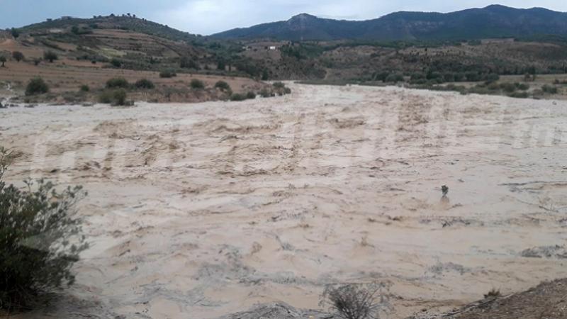 Débordement de oueds aboutissant dans les barrages Mallek et Tessa