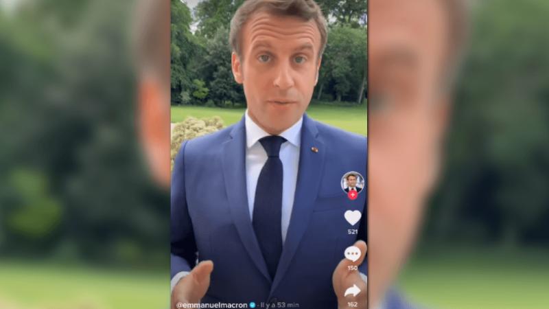 Emmanuel Macron débarque sur TikTok