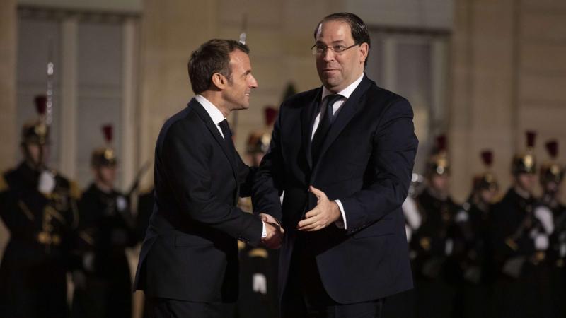 Emmanuel macron et youssef Chahed