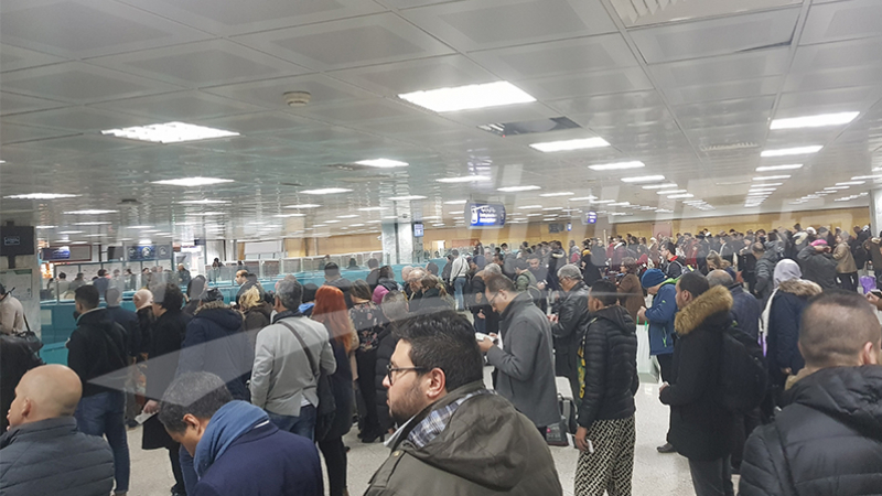 Encombrement inhabituel à l'aéroport Tunis Carthage