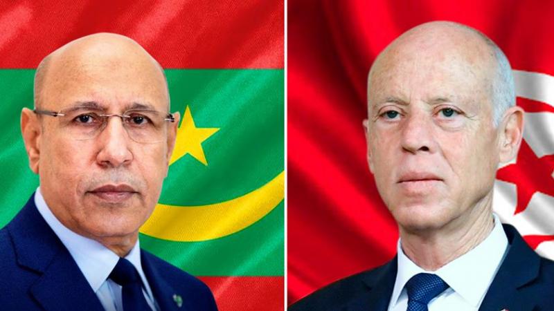 Entretien téléphonique entre Kais Saied et Mohamed Ould El-Ghazaouani
