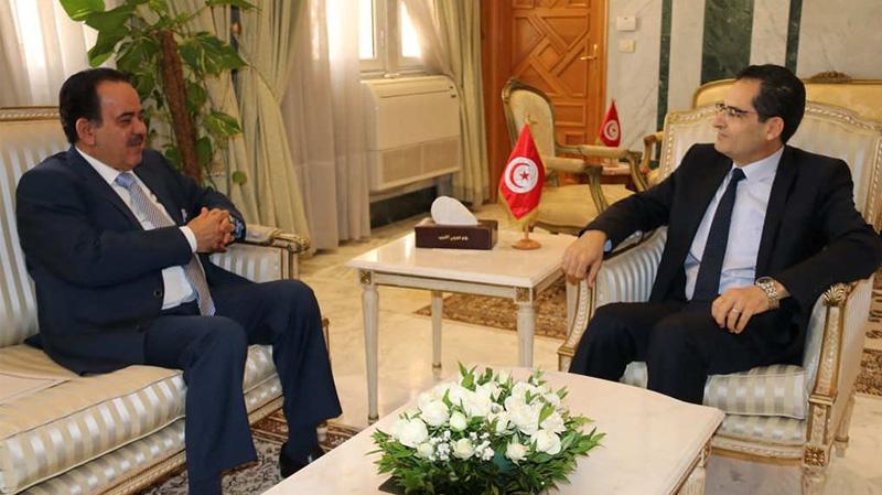 Erray reçoit l'ambassadeur du Qatar à Tunis
