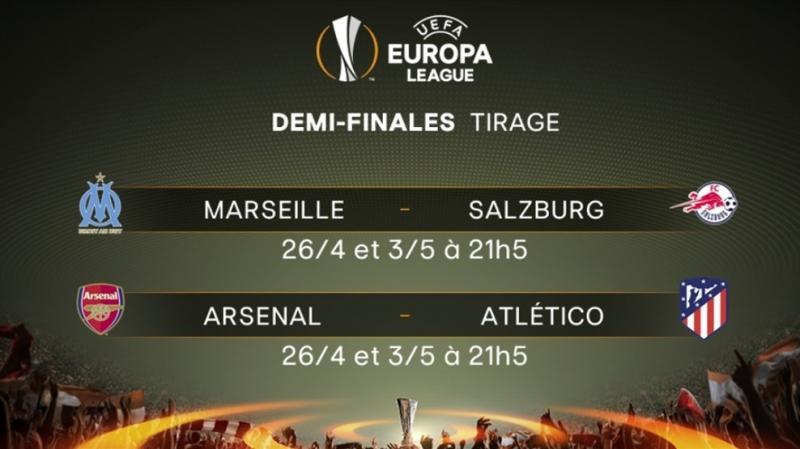 Europa League-Demi-finales: choc entre Arsenal et Atletico Madrid