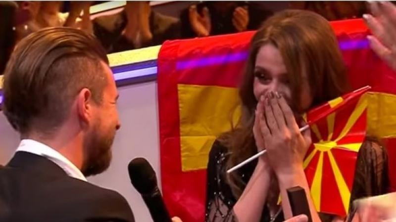 Eurovision: Une demande en mariage en direct