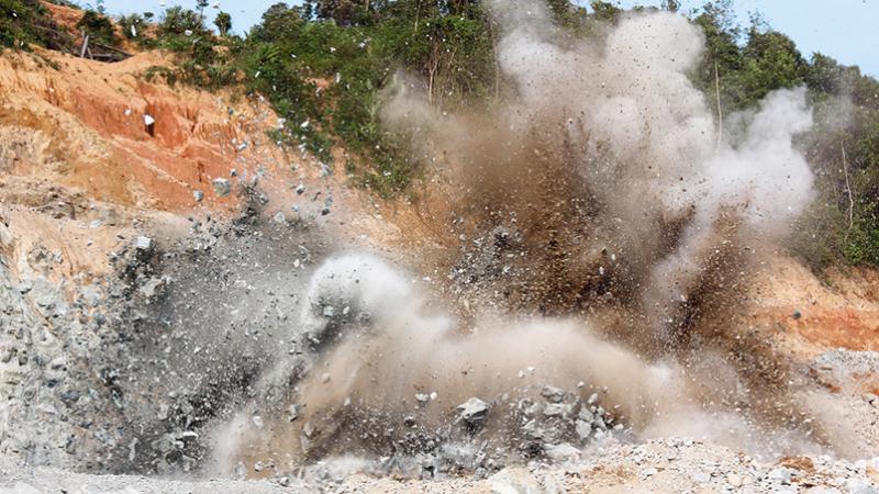 explosion d'une mine