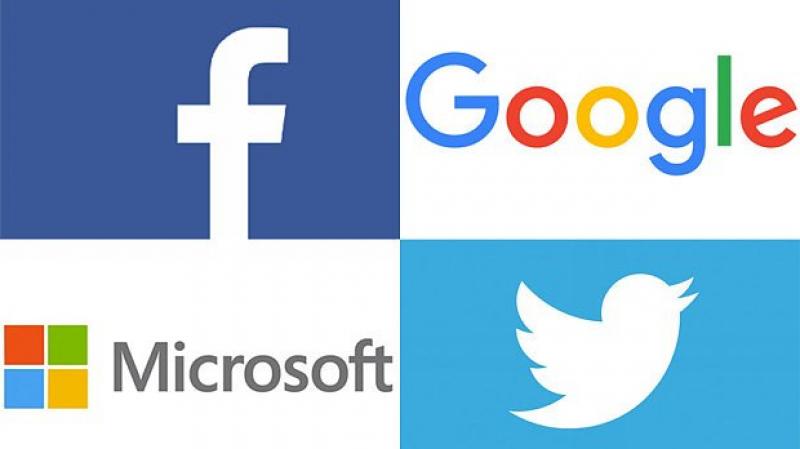 Facebook, Google, Twitter, Microsoft