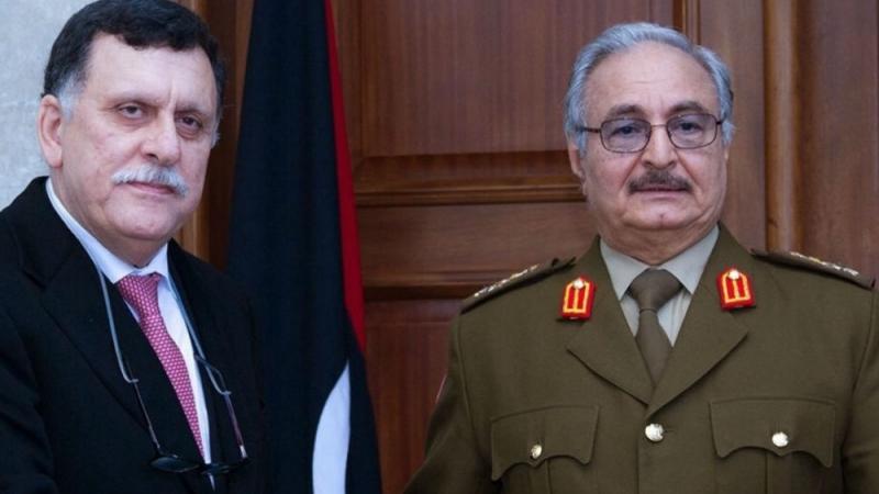 Fayez Al Sarraj, Khalifa Haftar,