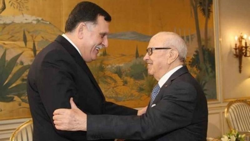 Fayez el Sarraj et Essebsi