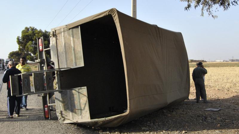 Fondok Jedid: collision entre un train et un camion militaire