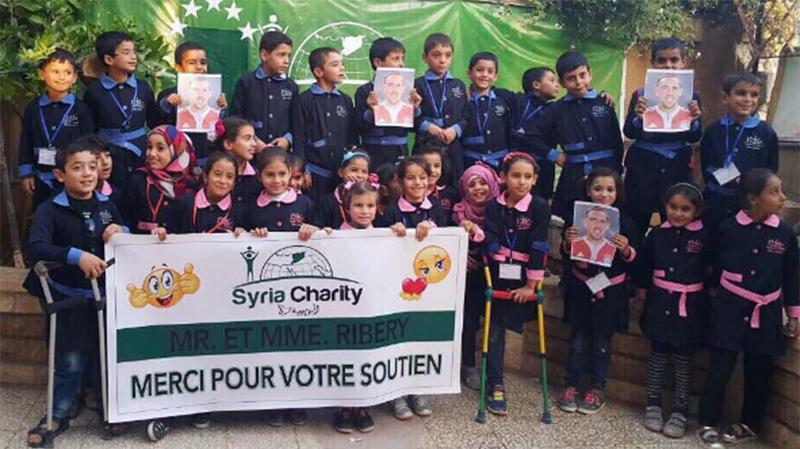 Franck Ribery et sa femme font don aux enfants syriens