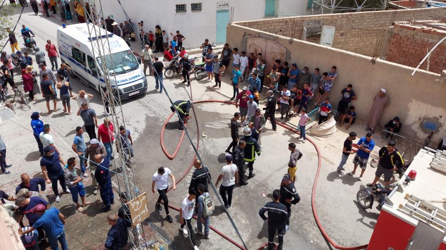Gafsa :Un incendie dans un garage de vente de carburant de contrebande