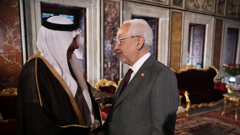 Ghannouchi reçoit l'ambassadeur d'Arabie saoudite à Tunis