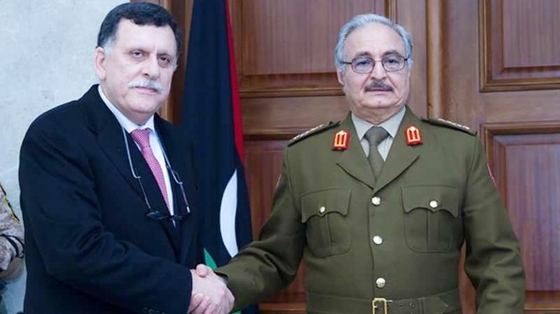 Haftar et Sarraj