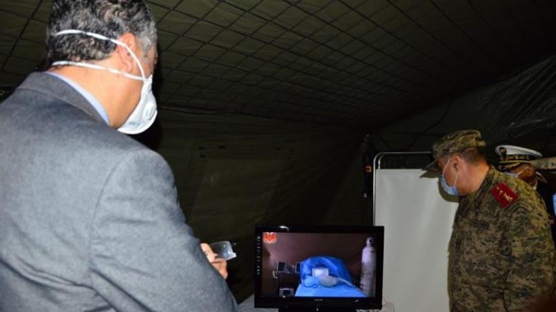 Hazgui à l'unité médicale installé près de l'hôpital militaire