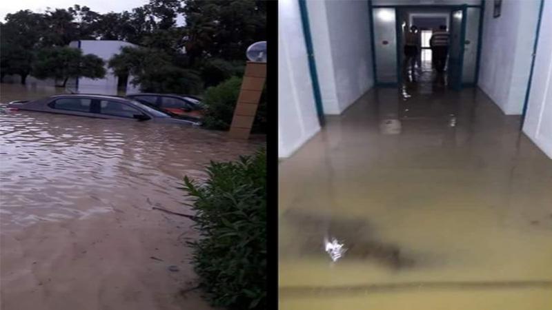 Inondations: L'E.N mini- foot bloquée dans un hôtel à Nabeul