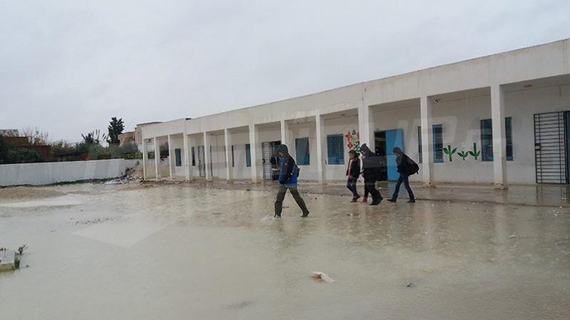 Intempéries: Suspension des cours à Houmet Essouk à Djerba