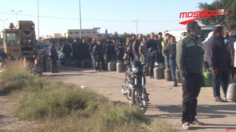 Kairouan: Ruée anarchique vers les bonbonnes de gaz
