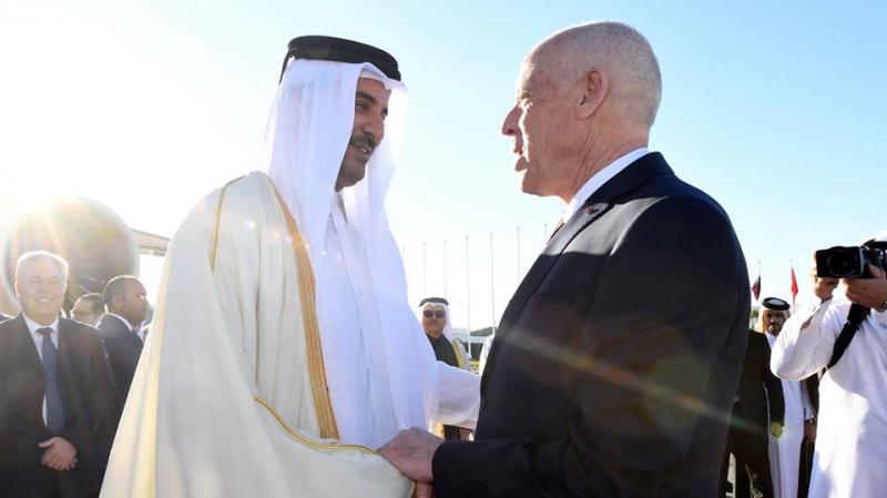 kais saied et l'émir du Qatar