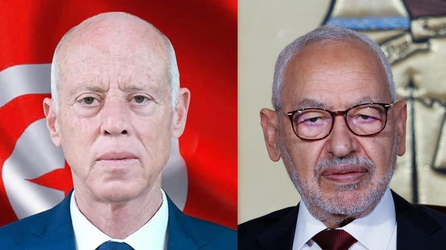 Kais Saied et Rached Ghannouchi
