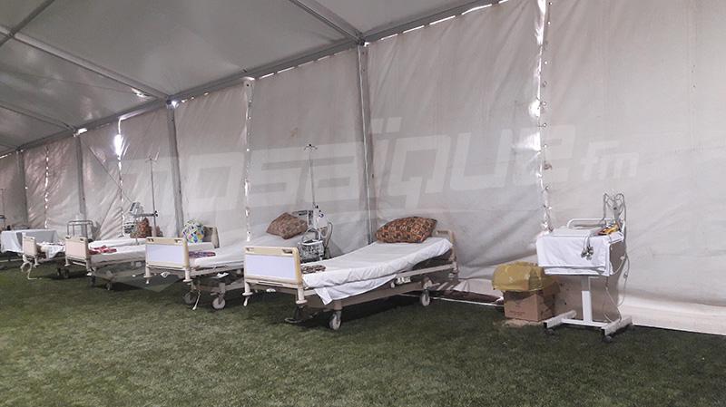 Kebili: L'hôpital  de campagne reçoit les patients de la typhoide