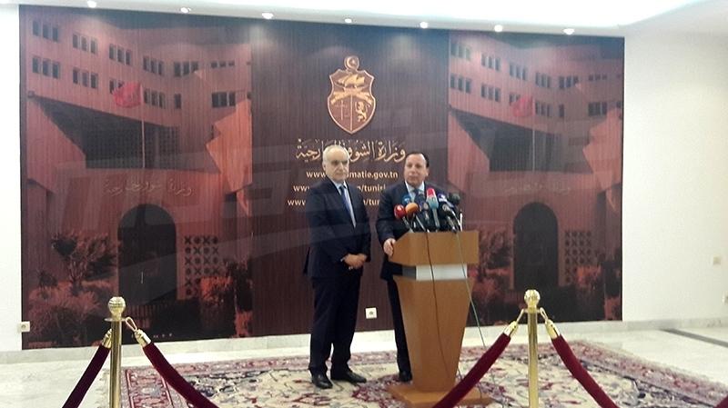 khemais Jhinaoui et Ghassan Salama