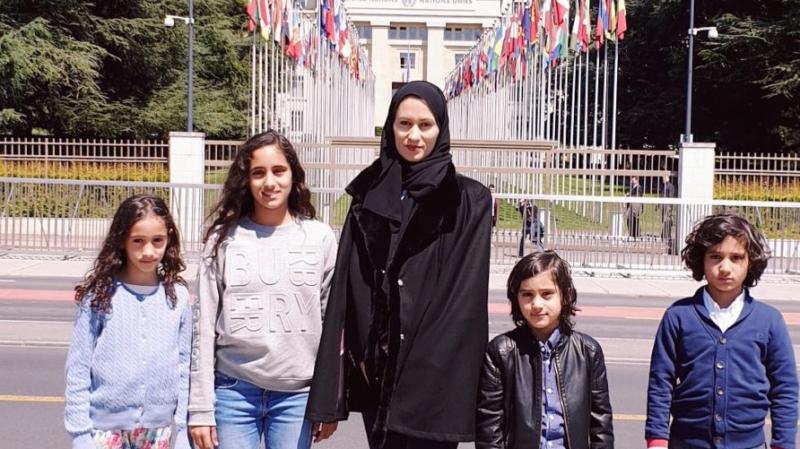 L'épouse de Talal ben Abdulaziz al-Thani rencontre Mohammed Nsour