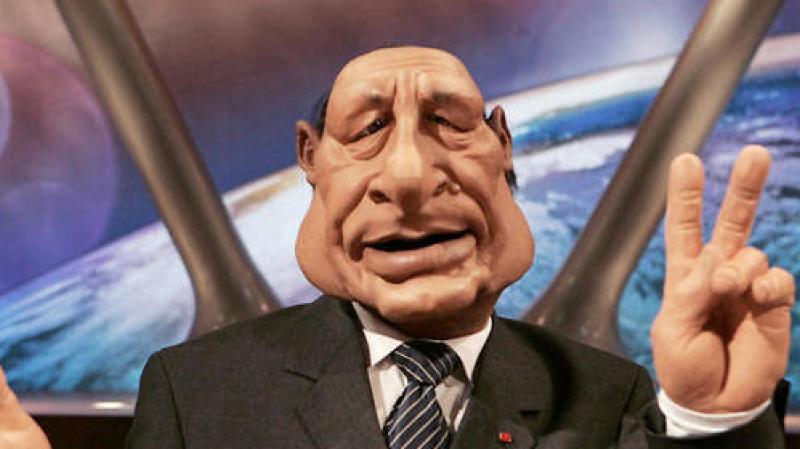 La marionnette de Jacques Chirac en vente sur Le Bon Coin