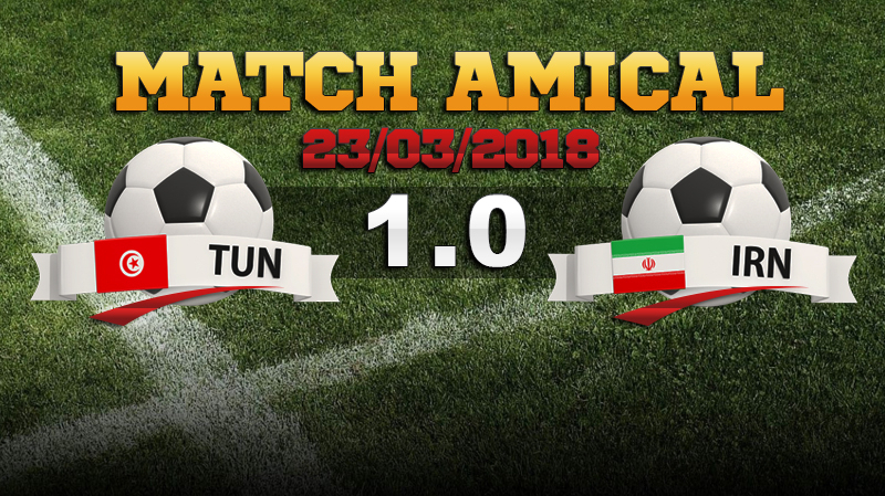 La Tunisie bat l'Iran lors d'un match amical