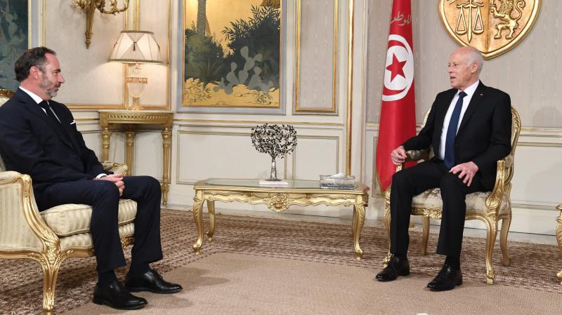 Le chef de l'Etat s'entretient avec l'ambassadeur de l'UE à Tunis