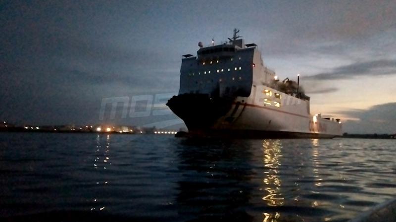 Le navire Ulysse accoste au chantier naval de Menzel Bourguiba