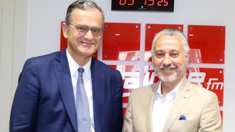 Le président du CSA Roch-Olivier Maistre chez MosaiqueFM