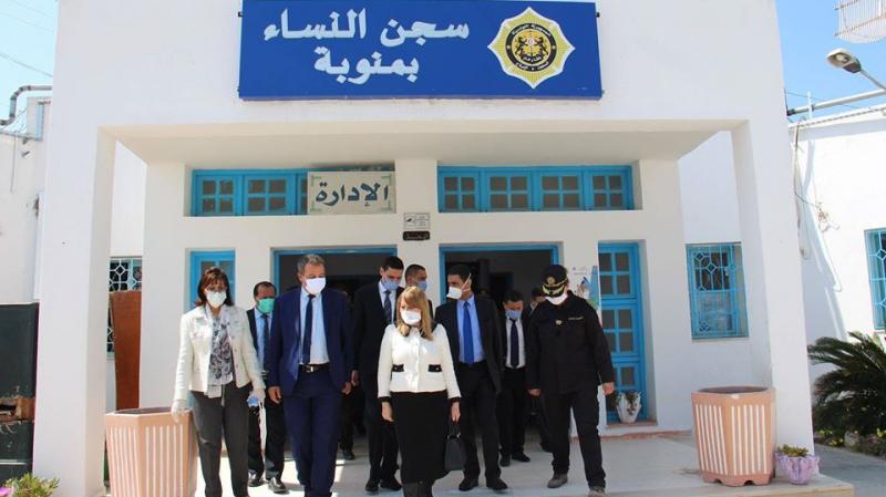 Les ministres de la Santé et de la Justice à la prison de la Manouba