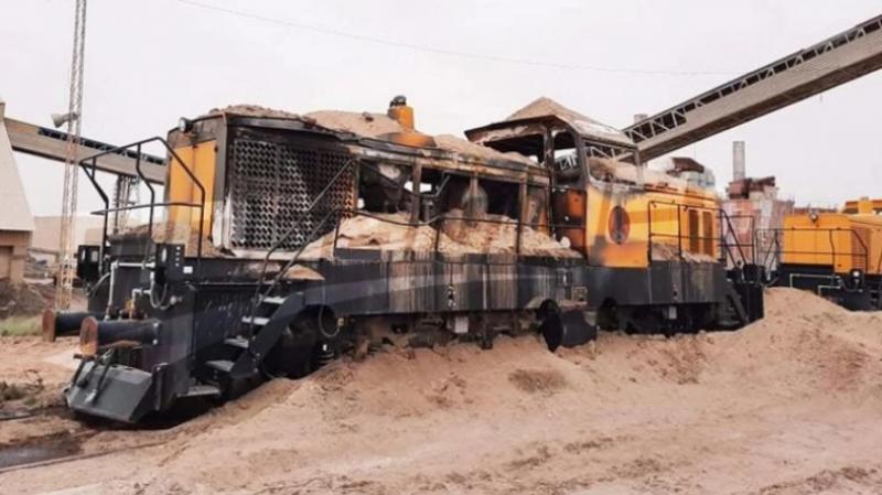 Locomotive Phosphate Gafsa incendiée: Un cadre para médical arrêté