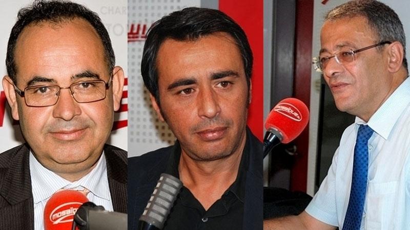 Mabrouk Korchid, Ahmed Souab et Jaouher Ben Mbarek dans Midi Show