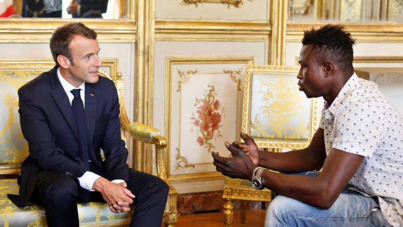 Mamoudou Gassama et Macron