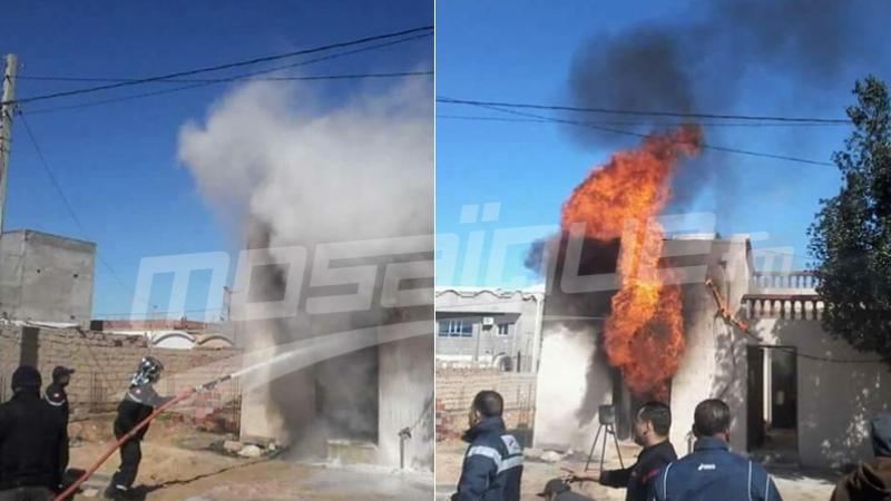Meknassi : incendie dans un point de vente de carburant