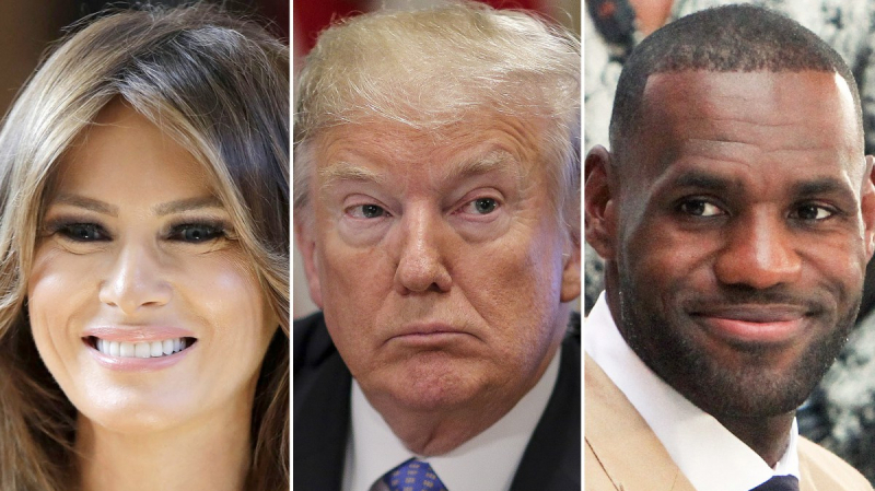 melania-trump-lebron-james