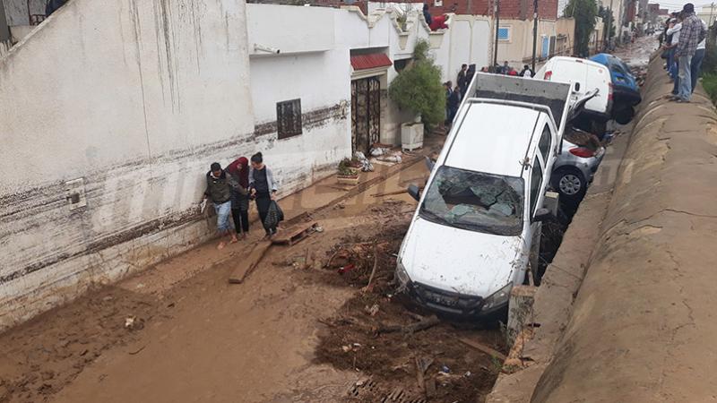 Mhamdia: Les pluies envahissent les maisons