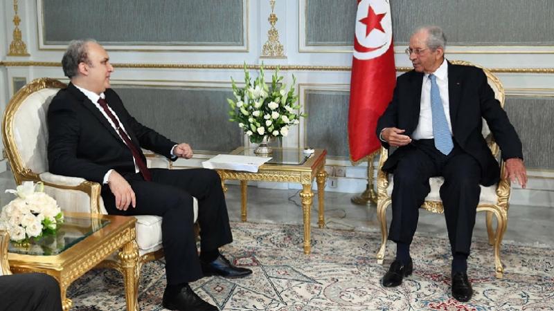 Mohamed Ennaceur reçoit Nabil Baffoun